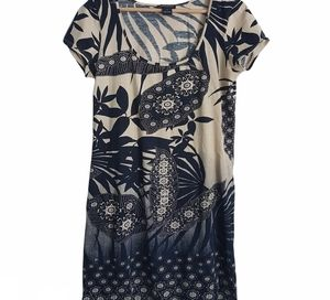 Lucky Brand Floral Stretch T Shirt Dress Size S